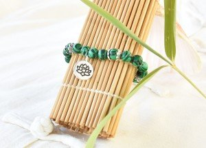 BRACELET PIERRES NATURELLES MALACHITE 1